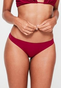 Read more about Burgundy hipster bikini bottoms - mix match red
