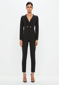 6ff618146775 long sleeve wide leg jumpsuit black - Shop long sleeve wide leg ...