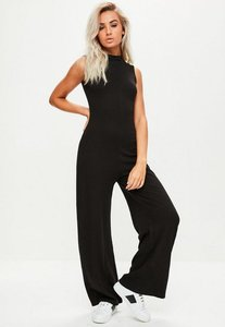 Read more about Black high neck sleeveless jumpsuit black