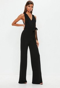 Read more about Black pinafore style jumpsuit black