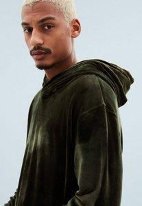 Read more about Khaki velour regular overhead hoodie beige