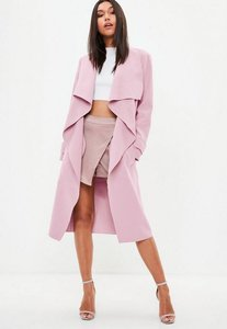 Read more about Pink oversized waterfall duster jacket pink