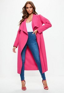 Read more about Pink oversized waterfall duster coat pink