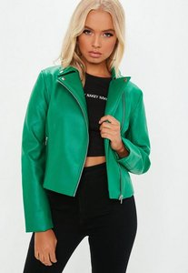 Read more about Green ultimate pu biker jacket blue