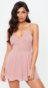 Read more about Pink chiffon floaty skirt overlay playsuit purple