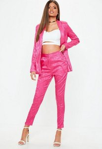 Read more about Pink jacquard pyjama style trousers pink