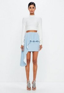 Read more about Powder blue exaggerated frill skirt blue