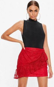 Read more about Red lace wrap tea skirt red