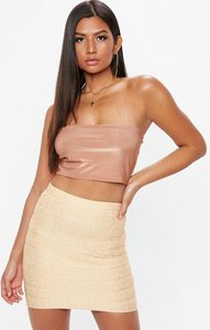 Read more about Cream bandage mini skirt gold