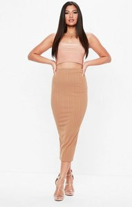 Read more about Camel bandage midaxi skirt beige
