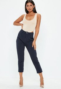 Read more about Navy pinstriped cigarette trousers blue