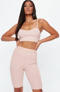 Read more about Pink ribbed cupped bralet pink