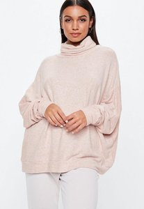 Read more about Nude brushed turtleneck top beige