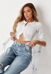 Read more about White long sleeve crop top white