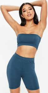 Read more about Navy bandeau top blue