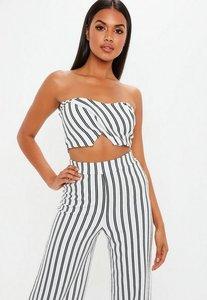 Read more about White stripe bandeau top white