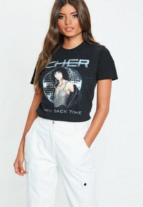 Read more about Black cher turn back time washed t-shirt black