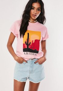 Read more about Pink arizona desert graphic t shirt pink