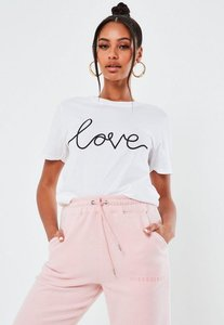 Read more about White love signature graphic t shirt white
