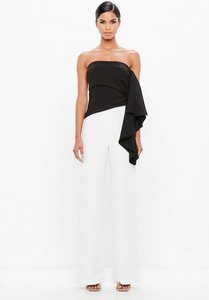 Read more about Black bandeau side frill top black