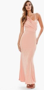 Read more about Pink front body con dress dusky pink
