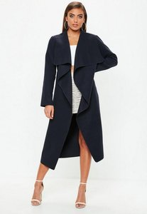 Read more about Navy waterfall duster coat blue