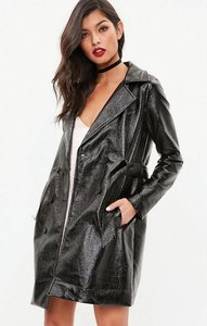 Read more about Black high shine trench coat black