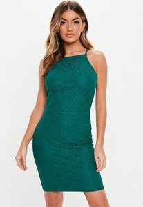 Read more about Tall teal lace square neck bodycon mini dress teal