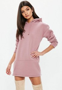 Read more about Petite pink hooded sweater dress pink
