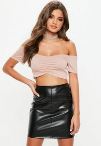 bcdcf7420b5b26 ribbed slinky crop top antique rose - Shop ribbed slinky crop top ...