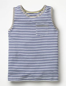 Read more about Stripy vest blue boys boden blue