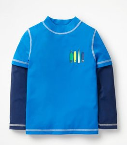 Read more about Layered rash vest blue boys boden blue