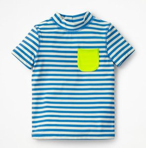Read more about Short-sleeved rash vest blue boys boden blue