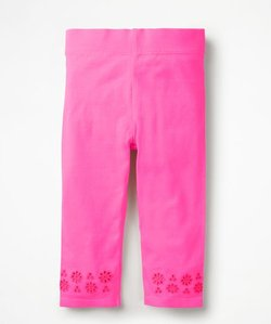 Read more about Broderie cropped leggings pink girls boden pink