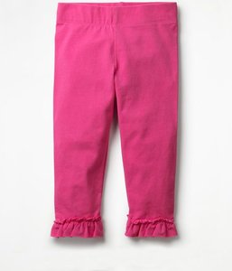 Read more about Ruffle cropped leggings pink girls boden pink