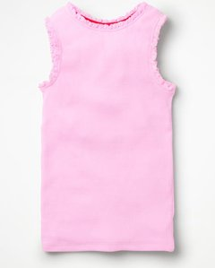 Read more about Lace trim ribbed vest pink girls boden pink