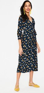 Read more about Floris wrap dress navy women boden navy