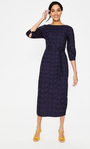 Read more about Claudette broderie midi dress navy women boden navy