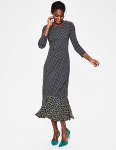 Read more about Philippa hem detail midi dress navy women boden navy