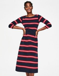 Read more about Alma ottoman midi dress navy women boden navy