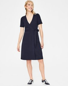 Read more about Mira ponte wrap dress navy women boden navy