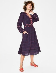 Read more about Flossie embroidered midi dress navy women boden navy