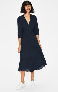 Read more about Aurora midi wrap dress navy women boden navy