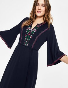 Read more about Remi embroidered midi dress navy women boden navy