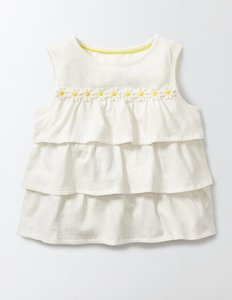 Read more about Pretty ruffle top ivory girls boden ivory
