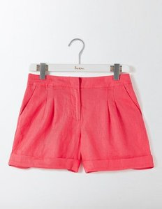Read more about Lottie linen shorts pink women boden pink