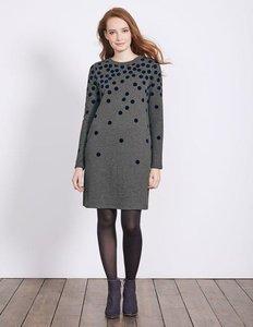 Read more about Flocked spot sweatshirt dress grey women boden grey