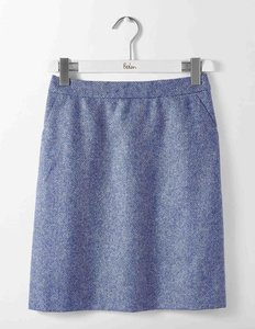 Read more about British tweed mini skirt blue women boden blue
