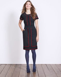 Read more about Edith trim detail dress navy women boden navy