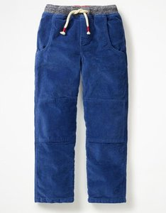 Read more about Lined cord pull-on trousers blue boys boden blue